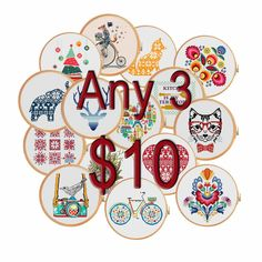 Excited to share the latest addition to my #etsy shop: Any 3 patterns for 10 dollars USD (cross stitch patterns) - christmas sale wedding gift birthday gift cyber monday black friday http://etsy.me/2iEN4TR
