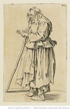 [Les gueux]. [23], [La mendiante venant de recevoir la charité] : [estampe] / [Jacques Callot] - 1