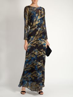 Long-sleeved floral-print gown | Etro | MATCHESFASHION.COM