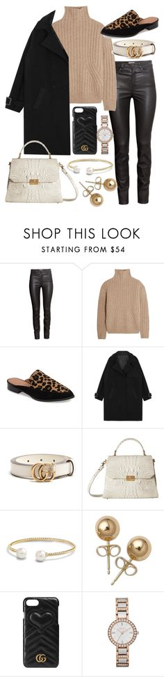 """""""Untitled #22070"""" by florencia95 ❤ liked on Polyvore featuring H&M, Totême, Halogen, Gucci, Brahmin, David Yurman and Bling Jewelry"""