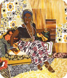 African American artist Mickalene Thomas, This Girl Could be Dangerous, 2007 #womensart