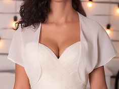 Chiffon shrug white bridal cover up white shrug chiffon bolero