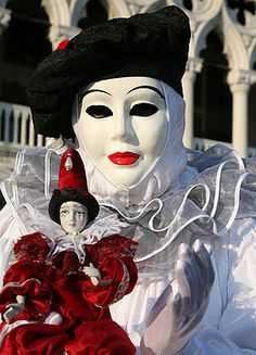 Donna Corless - White Clown with Red Mini 2