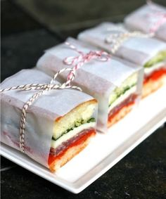 Pressed Italian sandwiches look neat and tidy and these ones, in particular, are just the right size. Indulge your guests with your favourite combos like soppressata and provolone sandwiched between yummy ciabatta bread.