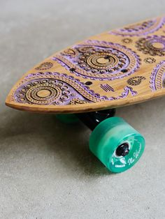 Without Walls STRGHT C Diamond Bamboo Custom Bandit Skateboard