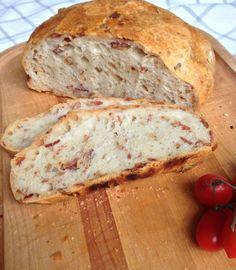 No knead bacon bread