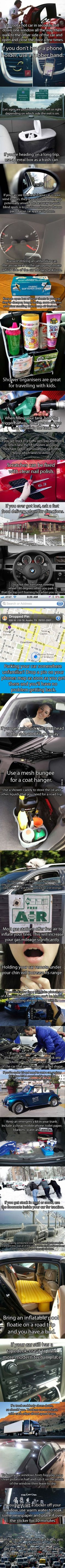 nice 32 Driving Hacks That Will Make You A Roadtripping Master - 9GAG  Long car ride fun and tips!