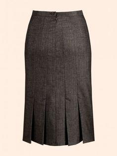 d1ba56164e5 HP Pencil skirt - draft double darts into seams with kick pleats