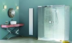 Loving the 20's feel vanity unit #Bathroom #Pinspiration Matki Shower enclosures, available from UK Bathrooms. #Shower