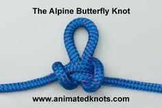 Alpine Butterfly Knot ##cordage #cord #alpine #knot #knotting #knotwork