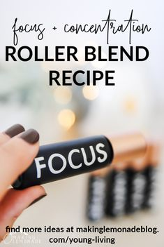 This homemade essential oil roller blend recipe helps support focus and concentration at work, home or school. The wildly popular Focus Roller blend has only 4 ingredients but works like a charm. Essential Oils Cleaning, Essential Oil Scents, Young Living Essential Oils, Young Living Focus, Essential Oil Jewelry, Roller, Living Oils, Natural Cleaning Products, Better Life