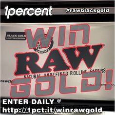 Enter to WIN a RAW Black Gold Rolling Tray via 1 Percent http://1pct.it/winrawgold  RAW BLACK GOLD 🔥🥇🔞 http://www.1percent.com/raw-black-gold-rolling-tray.html  Also Win  COALATREE Adventure Pack in Black https://coalatree.com  RYOT Black Super Dugout http://www.1percent.com/black-aluminum-dugout-w-poker.html  What Smell Smoke Filter (black carbon inside) http://www.1percent.com/what-smell-smoke-filter.html  http://1pct.it/winrawgold