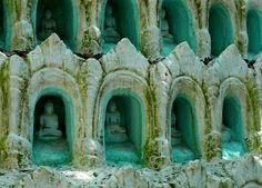 Honeycombed Buddhas