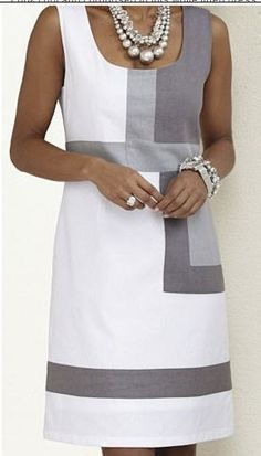 Color Block Sleeveless Above Knee Shift Dress Robes Vestidos - Herren- und Damenmode - Kleidung Linen Dresses, Casual Dresses, Floryday Dresses, Sleeveless Dresses, Simple Dresses, Elegant Dresses, Races Dresses, Dresses Online, Printed Dresses