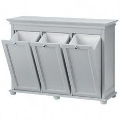 Home Decorators Collection Hampton Harbor 37 in. Triple Tilt-Out Hamper in White 2601330410 at The Home Depot – Mobile Home Decorators Collection Hampton Harbor 37 in. Triple Tilt-Out Hamper in White 2601330410 at The Home Depot – Mobile Laundry Room Remodel, Laundry Closet, Small Laundry, Basement Laundry, Laundry Room Organization, Laundry Room Storage, Laundry Room Design, Laundry Rooms, Bathroom Storage Furniture