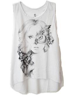 Regatão Coruja Face! #regata #art #owl #estilo #girls #moda #fashion #flowers #outfit