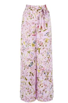 Wide Leg Lilact Floral Trousers | 18th century print by William Kilburn, Part of the Oasis and V&A Collection