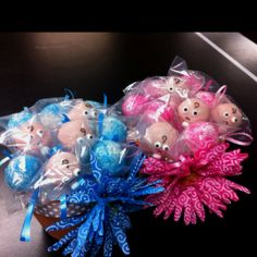 Baby shower cake pop bouquets I made