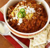 Chili does NOT have beans!  I will make this without the beans!