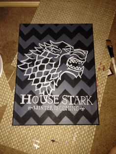 Game Of Thrones Canvas - House Stark Sigil