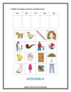  Clasifica los dibujos en función a la sílaba inicial :   ACTIVIDAD 8   MERINO; PECORI; REYES & TERRONES