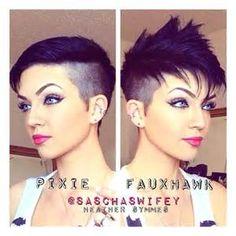 pixie faux hawk women - Bing images