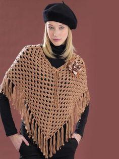 Cool Poncho | Yarn | Free Knitting Patterns | Crochet Patterns | Yarnspirations