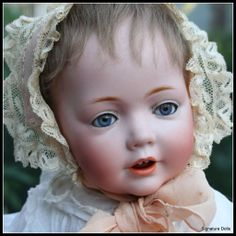 """*HILDA ~ J.D. by Kestner, 16"""" Beautiful Wigged #237. Perfect bisque socket head w/exceptional quality, crisp features, blue glass sleep eyes, two porcelain teeth, original light brown mohair wig over plaster pate.  Is incised: """"G made in Germany 13237 JDK J.Ges Gesch N. 1070."""""""