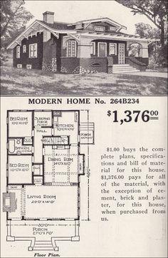 I love this vintage floor plan!