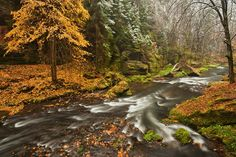 First Snow - Photo of Bohemian Switzerland. First Snow, Travel Photographer, Waterfall, River, Landscape, Switzerland, Nature, Bohemian, Photography