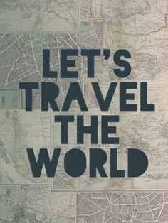 Travel the World - Leah Flores | Crie seu quadro com essa imagem https://www.onthewall.com.br/frases-e-citacoes/travel-the-world #quadro #decoracao #decoração #canvas #moldura