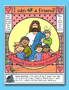 Primary Lesson Helps, Nursery Lesson 17 and Sunbeam Lesson 33 - I Can Be a Friend, Sunday Savers Primary Lessons, Lds Primary, Sunbeam Lessons, Friendship Activities, Faith Church, Friends Poster, Sunday School Activities, Family Home Evening, Help Teaching
