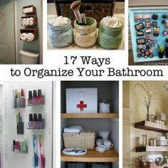 17 Ways to Organize Your Bathrrom