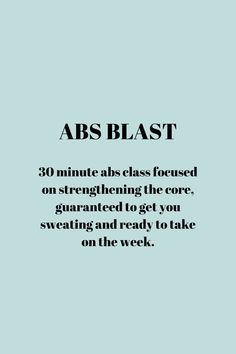 Join me for Abs Blast at 9 30am Monday mornings. Can't make it? Recording will be posted! Ab Blast, Class Timetable, Desk Workout, Pilates Benefits, Get Back To Work, Aerobics Workout, Mornings, Feel Better, Encouragement