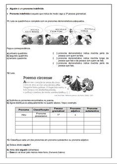110 ATIVIDADES PORTUGUÊS 6° ANO LÍNGUA PORTUGUESA EXERCÍCIOS TESTES AVALIAÇÕES PARA IMPRIMIR 6° ano – Atividades – Testes – Avaliações – Imagens para imprimir Numeral  Classificação dos numerais  Flexão dos numerais  Os dias do mês  Pronomes  Artigo – Substantivo – Pronome  Pronome Pessoal  Classificação dos Pronomes  Pronomes …