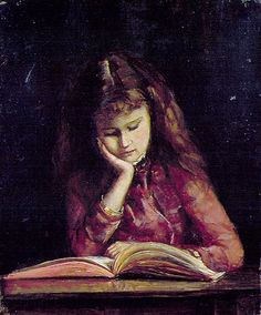 Menina lendo, s/d May Vale (Austrália, 1862-1945)
