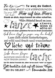 """Print """"Divine Message,"""" personalized poster as a gift for confirmation/confirmation/communion Presents For Girls, Gifts For Girls, Cute Text, Crafts To Sell, Diy And Crafts, Personalized Posters, Kids Poster, Poster Print, Feeling Happy"""