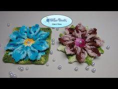 Flor de Crochê Para Aplicação em Tapetes e Diversos Trabalhos #01 - YouTube