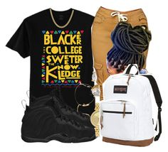 """College Freshman! 🙌🏾"" by china-dolly on Polyvore featuring Ray-Ban, NIKE, Michael Kors, JanSport and Sterling Essentials"
