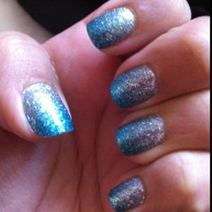 I love these OPI stick on gradient nail art! They were awesome and lasted a while!