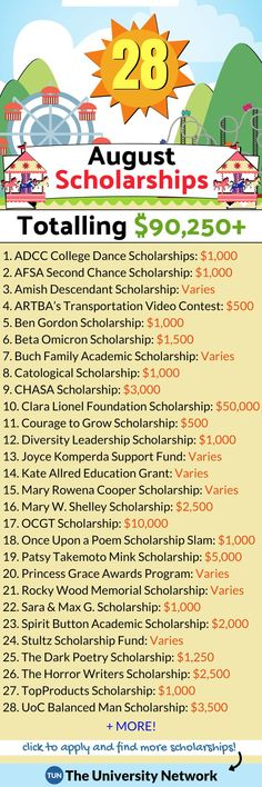 Here is a selected list of August 2021 Scholarships. School Scholarship, Scholarships For College, Graduate School, College Students, Student Loans, College Fund, College Planning, College Club, College Dorms