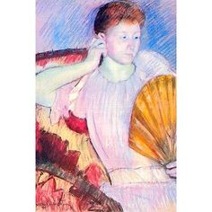 Buyenlarge 'Lady with a Fan' by Mary Cassatt Painting Print Size: