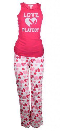 Playboy Women 2 pc Long Lounge Pants Pajamas