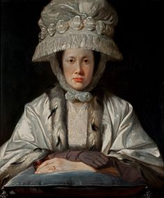 ▴ Artistic Accessories ▴ clothes, jewelry, hats in art - Tilly Kettle | Portrait of Anne Howard-Vyse, 1780
