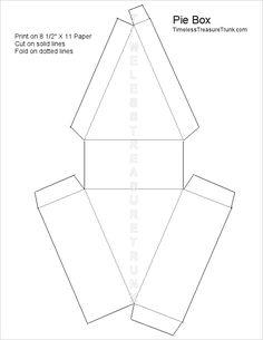 Blank printable pie box template.