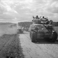 Sherman Firefly tank of 2nd Irish Guards, 31 August 1944; IWM BU 302 - Irish Guards in images - Gallery - WW2 Talk