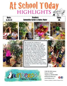 Two year olds - tree project with 'beautiful stuff' brought from home ≈≈ Creative Curriculum, Preschool Curriculum, Preschool Classroom, Kindergarten, Inquiry Based Learning, Learning Process, Learning Stories Examples, Reggio Documentation, Reggio Emilia Classroom