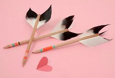 Diy back to school : DIY Love Struck Pencils: idk if I would use these under normal surcimstances but they are really cute!