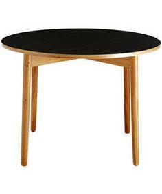 Habitat Suki Black Folding Table - Oak.