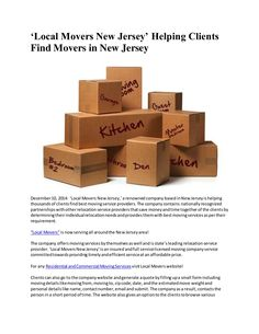 Local Movers New Jersey by Rob  Webb via slideshare